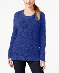 Calvin Klein Jeans Crew Neck Eyelash Sweater Coastal Blue