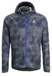 Salomon Fast Wing Sports Jacket Dove Grey Dark Cloud Blue Yonder