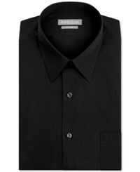 Van Heusen Fitted Poplin Solid Dress Shirt Black