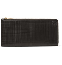 Loewe Embossed Cross Grain Leather Wallet Black