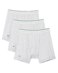 Lacoste Supima Cotton Solid Boxer Briefs Pack Of 3 Grey