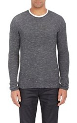 John Varvatos Star U.S.A. Waffle Knit Sweater Grey