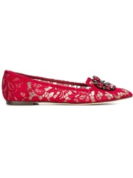 Dolce And Gabbana 'Vally' Slippers Red