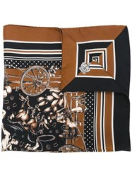 Dolce And Gabbana Western Print Scarf Black