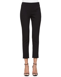 Lela Rose Catherine Crepe Slim Ankle Pants