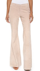 Alexis Ranie Suede Flare Pants Clay