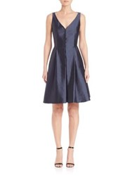 Akris Silk Shantung V Neck Dress