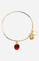 Women's Alex And Ani Birthstone Expandable Wire Bangle July Ruby