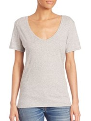 Rag And Bone Base V Neck Cotton Jersey Tee Bright White Black