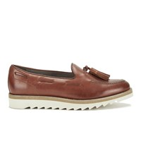 H Shoes By Hudson Women's York Leather Tassel Loafers Tan