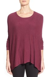 Eileen Fisher Scoop Neck Boxy Pullover Red