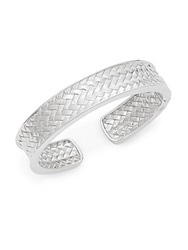 Saks Fifth Avenue Sterling Silver Basket Weave Cuff Bracelet