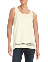 Lord And Taylor Embroidered Cotton Tank Firefly