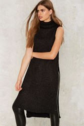 On Your Side Sweater Dress Gray