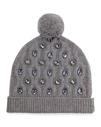 Markus Lupfer Jewel Flower Beanie Medium Gray