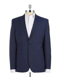 Vince Camuto Wool Two Button Blazer Blue