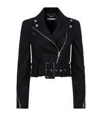 Givenchy Felted Wool Biker Jacket Female Black