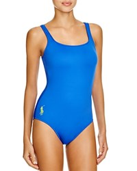 Polo Ralph Lauren Scoop Back One Piece Swimsuit