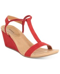 Styleandco. Style Co. Mulan Wedge Sandals Only At Macy's Women's Shoes Red