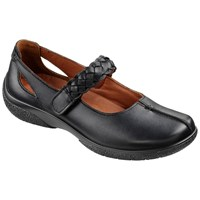 Hotter Made In England Shake Adjustable Strap Leather Shoes Black