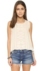 Maison Scotch Embroidered Tank Cream