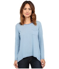 Volcom Lived In Stripe Long Sleeve Top Royal Women's Long Sleeve Button Up Navy