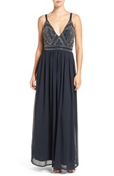 Lace And Beads Women's 'Delilah' Beaded Gown