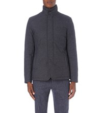 Reiss Hector Quilted Jacket Indigo