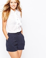 Jack Wills Tie Neck Blouse White