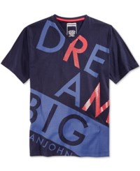 Sean John Men's Big And Tall Graphic Print T Shirt Navy