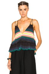 Apiece Apart Sandro Tiers Top In Green Blue Stripes Green Blue Stripes