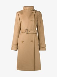 Vince Wool Cashmere Blend Belted Trench Coat Camel Ginger