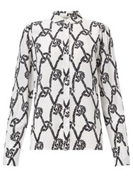 Alice By Temperley Somerset By Alice Temperley Rope Print Shirt Black White