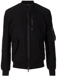 Blk Dnm Bomber Jacket Black
