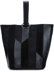 Derek Lam 10 Crosby Striped Mini Tote Black