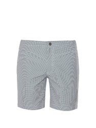 Onia The Calder 7.5' Printed Swim Shorts Grey White