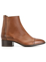 Sartore Chunky Low Heel Boots Brown