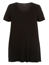 Evans Black Side Lace Up Tunic