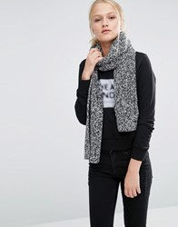 Cheap Monday Salt And Pepper Long Knitted Scarf Salt And Pepper Grey
