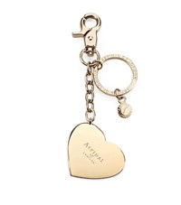 Aspinal Of London Gold Plated Heart Handbag Charm Keyring Unisex