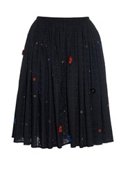 Thierry Colson Grisette Garden Embroidered Cotton Skirt