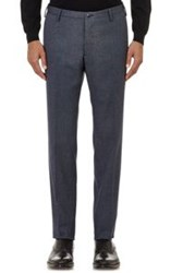 Boglioli Birdseye Stitched Trousers Blue