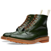Trickers End. X Tricker's Club Sole Stow Boot Green