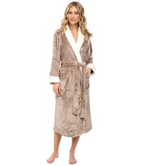 N By Natori Cashmere Fleece Robe Light Coffee Women's Robe Tan