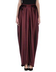 Stephan Janson Skirts Long Skirts Women Maroon