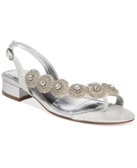 Adrianna Papell Daisy Evening Sandals Women's Shoes Silver