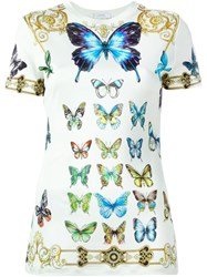Versace Collection Butterfly Print T Shirt Multicolour