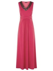 Precis Petite Embellished Maxi Dress Raspberry