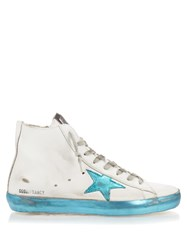 Golden Goose Francy Sparkle High Top Leather Trainers
