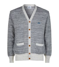 Vivienne Westwood Raw Edge Woven Cardigan Male Light Grey